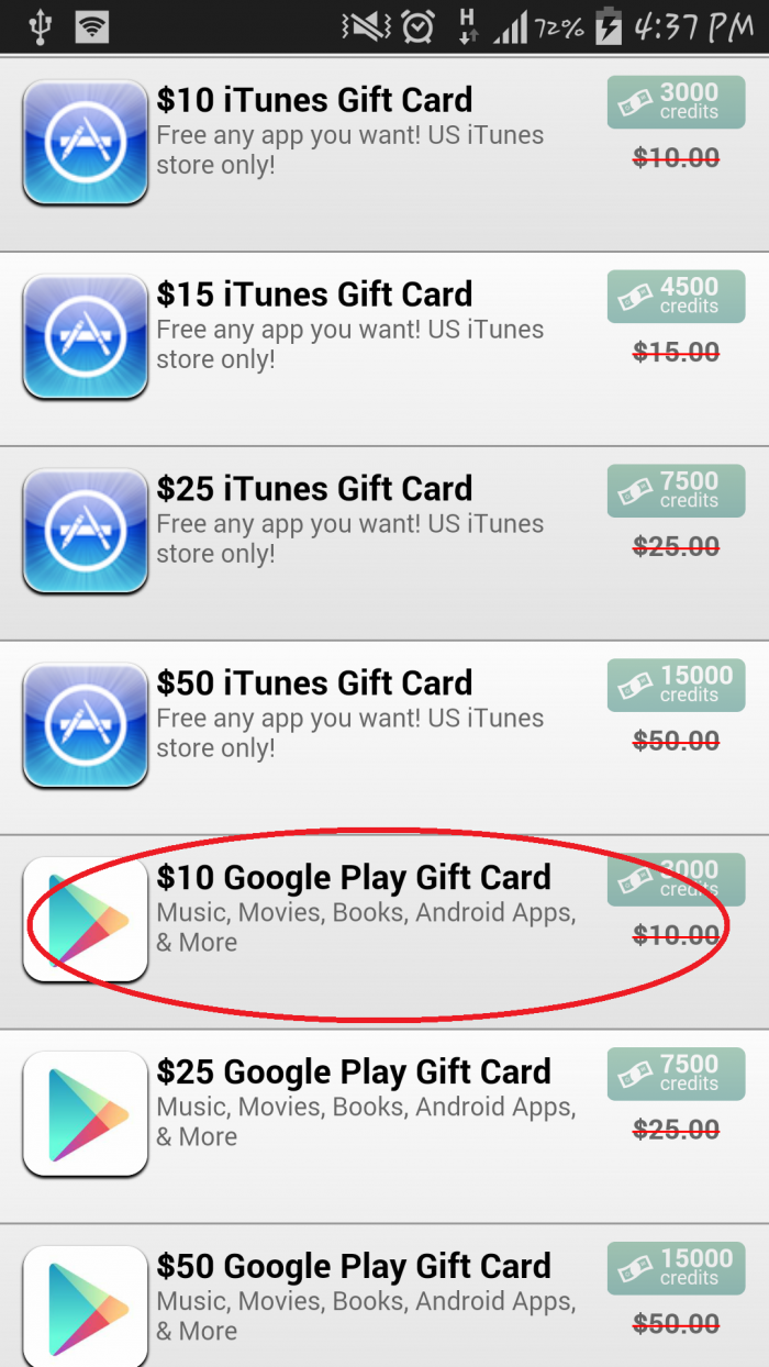 Credit Card Legally Purchase Google Play Store 50 Gift Us 10